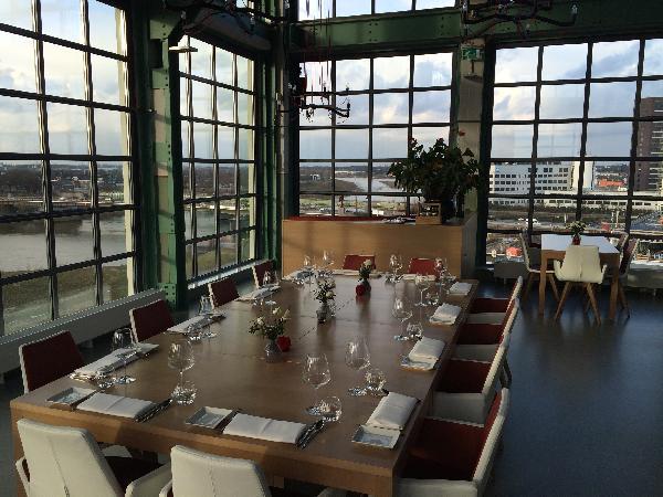 trendy loungebar op 6e verdieping in Venlo